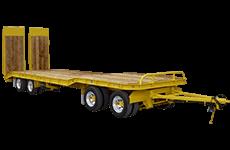 Flat deck truck trailer